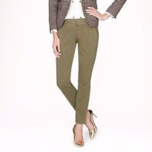 J. Crew Andie Chino Pants Green Olive Sz 12